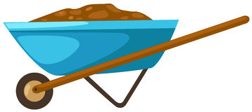 Wheelbarrow. Illustration of isolated wheelbarrow on white background Stock Photos