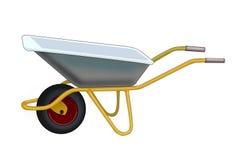 Wheelbarrow. Illustration of a wheelbarrow on a white background vector illustration
