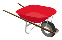 Wheelbarrow. Cartoon illustration of a wheelbarrow Royalty Free Stock Photos