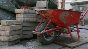 wheelbarrow Stockfoto