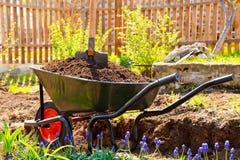 wheelbarrow fotografia stock