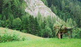 Wheelbarrow in Carnic Alps Stock Images