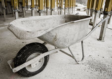 Wheelbarrow on the Construction Site Royalty Free Stock Photography