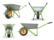 Wheelbarrow from different angles Stock Photography