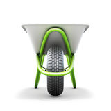 Wheelbarrow front view Royalty Free Stock Image