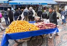 Wheelbarrow fruits vegetables Royalty Free Stock Photos