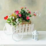 Wheelbarrow full of flowers Royalty Free Stock Photo