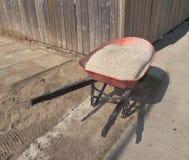 Wheelbarrow full of gravel Royalty Free Stock Photos