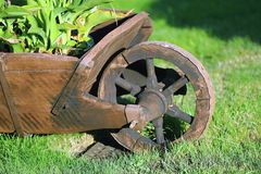 Wheelbarrow in the garden Stock Image