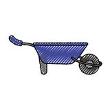 Wheelbarrow gardening tool Royalty Free Stock Photography