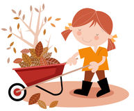 Wheelbarrow Girl Stock Photography