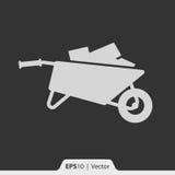 Wheelbarrow ikona dla sieci i wiszącej ozdoby Zdjęcie Royalty Free