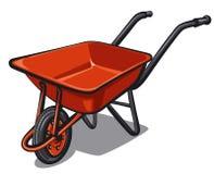 Wheelbarrow. Illustration of red the wheelbarrow Stock Images
