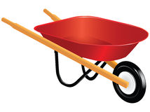 Wheelbarrow. Industrial tool for manual movement of construction and household items - industrial wheelbarrow. Vector illustration Stock Image
