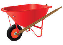 Wheelbarrow for industrial work Stock Photography
