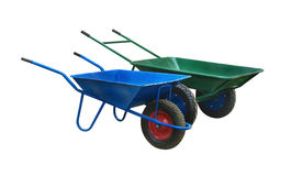 wheelbarrow isolated Stock Photos