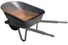 Wheelbarrow Isolated Royalty Free Stock Photos