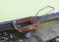 Wheelbarrow for litter Royalty Free Stock Photo