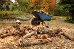 Wheelbarrow loaded Royalty Free Stock Photos
