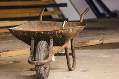 The wheelbarrow stock images