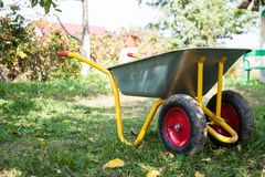 Wheelbarrow outdoor Stock Photos