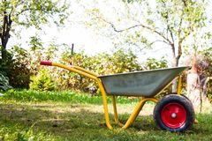 Wheelbarrow outdoor Royalty Free Stock Images
