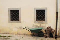 Wheelbarrow in Pesariis Royalty Free Stock Photos