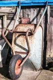 Wheelbarrow przeciw jacie Fotografia Royalty Free