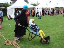 Wheelbarrow racing for  entertainment in Nairobi Kenya Royalty Free Stock Photography