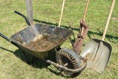 Wheelbarrow and shovel Royalty Free Stock Photography