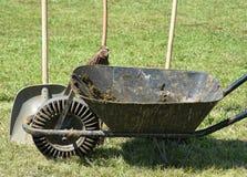 Wheelbarrow and shovel Royalty Free Stock Photo