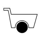 Wheelbarrow tool isolated icon Royalty Free Stock Image