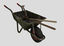 Wheelbarrow with tools Royalty Free Stock Photos
