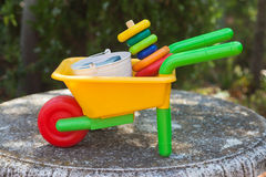 Wheelbarrow toy Stock Photos