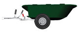 Wheelbarrow trailer Royalty Free Stock Image