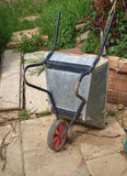 Wheelbarrow, upturned Stock Photo