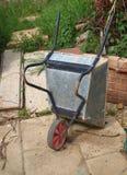 Wheelbarrow, upturned Stock Photo