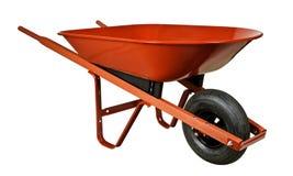 Wheelbarrow vermelho Imagens de Stock