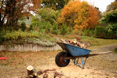Wheelbarrow waiting Royalty Free Stock Images