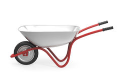 Wheelbarrow on white. 3d rendered image of wheelbarrow on white background Stock Image