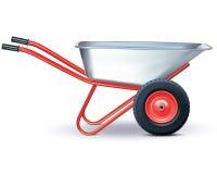 Wheelbarrow on white. Royalty Free Stock Images