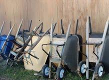 wheelbarrows Στοκ φωτογραφίες με δικαίωμα ελεύθερης χρήσης