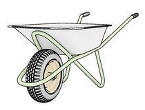 Wheelbarrows for construction contour Stock Image