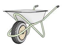 Wheelbarrows for construction contour Stock Image