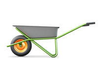 Wheelbarrows for construction side view Stock Images