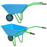 Wheelbarrows. Isolated render on a white background Royalty Free Stock Photography