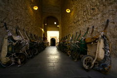 Free Wheelbarrows Of Hamals In Souq Wakif, Doha, Qatar Stock Images - 58090444