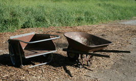 Wheelbarrows Royalty Free Stock Photos