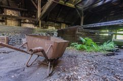Wheelbarrows w fabryce obraz royalty free