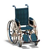 Wheelchair #1. Wheelchair for disabled, diagonally from in the front Royalty Free Stock Photos